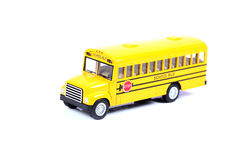 School bus. Beautiful shot of yellow colored school bus on white background royalty free stock image