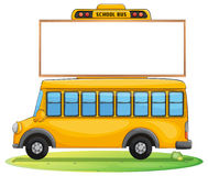 A school bus and board Royalty Free Stock Photos