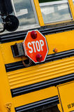 School Bus / Buses in the city Royalty Free Stock Photos