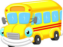 School bus cartoon Royalty Free Stock Image