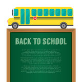 School Bus With Chalkboard Back To School Concept Stock Photography