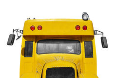 School bus. Close up of school bus, isolated Stock Photos