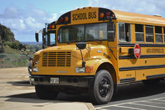 School bus, close up view Royalty Free Stock Images