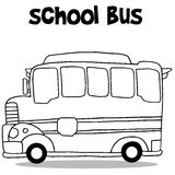 School bus collection transportation vector Royalty Free Stock Images