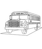 School bus coloring page Stock Images