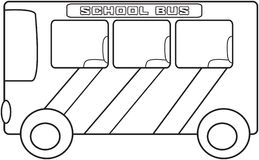School bus coloring page Stock Photography