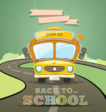 School bus concept design with message back to sch Stock Images