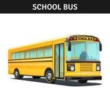 School Bus Design. Yellow empty school bus design with title realistic vector illustration Stock Photo