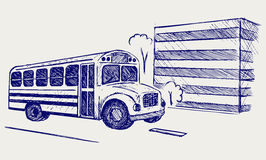 School bus. Doodle style Royalty Free Stock Photos