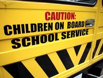 School bus door Stock Photos