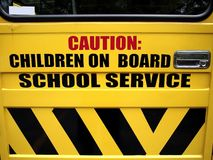 School bus door Royalty Free Stock Photo