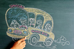 School bus drawing Stock Image