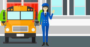 School bus driver. Royalty Free Stock Photography