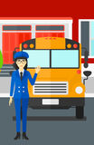 School bus driver. Royalty Free Stock Image