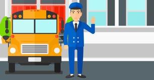 School bus driver. Stock Photos