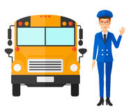 School bus driver Royalty Free Stock Photo