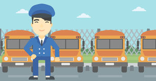 School bus driver vector illustration. Stock Photo