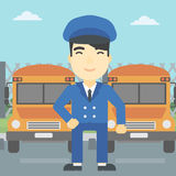 School bus driver vector illustration. Royalty Free Stock Images