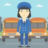 School bus driver vector illustration. Stock Image