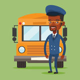 School bus driver vector illustration. Stock Photo
