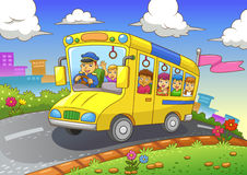 School bus. EPS10 File. Simple Gradients. All in separate layer and group for easy editing Royalty Free Stock Photos