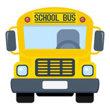 School Bus Flat Icon Isolated on White Royalty Free Stock Photography