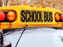 School bus front sign closeup. School bus front sign close up Stock Photos