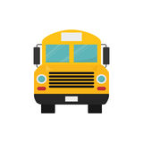 School bus front view Stock Image