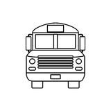 School bus front view Royalty Free Stock Photography
