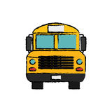 School bus front view Royalty Free Stock Image