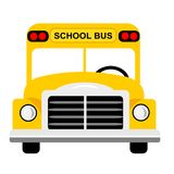 School Bus Front view. Front view of yellow school bus clipart illustration Stock Illustration