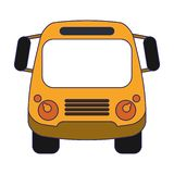 School bus frontview isolated. Symbol vector illustration graphic design royalty free illustration