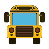 School bus frontview symbol. Vector illustration graphic design royalty free illustration