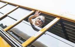 In school bus royalty free stock images