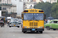 School Bus at Havana Royalty Free Stock Image