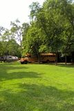 School Bus Home Royalty Free Stock Photography