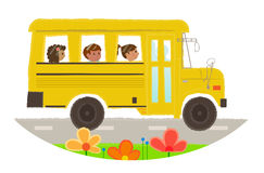 School Bus Icon Stock Photos