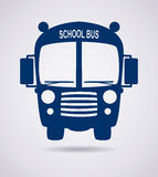 School bus icon, vector  Stock Photography
