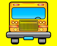 School bus illustration. Front view of a yellow school bus illustration Stock Illustration