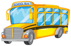School bus. Illustration of a closeup school bus Royalty Free Stock Photos
