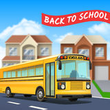 School Bus Illustration Royalty Free Stock Photography
