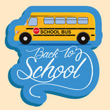 School Bus Isolated On Color Background Royalty Free Stock Image