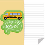 School Bus Isolated On Color Background Royalty Free Stock Photos