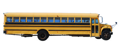 School bus isolated over white Stock Images