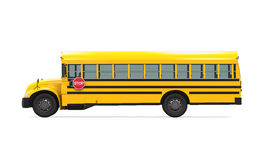 School Bus. Isolated on white background. 3D render Stock Photography