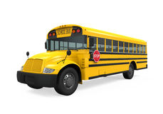 School Bus. Isolated on white background. 3D render Stock Photos