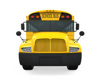 School Bus. Isolated on white background. 3D render Royalty Free Stock Photo