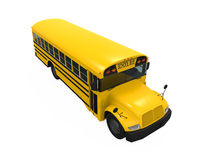 School Bus. Isolated on white background. 3D render Stock Photo