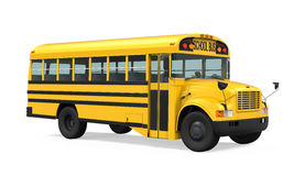 School Bus Isolated Stock Images