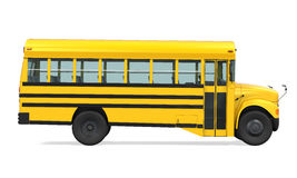 School Bus Isolated. On white background. 3D render Royalty Free Stock Image